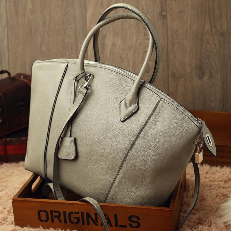 цена на women messenger bag genuine cow leather big totes handbag shoulder crossbody bag shopping big bags gray black red blue