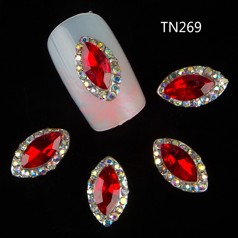 10pcs 3d nail art supplies rhinestone alloy nails for Acrylic nail decoration supplies
