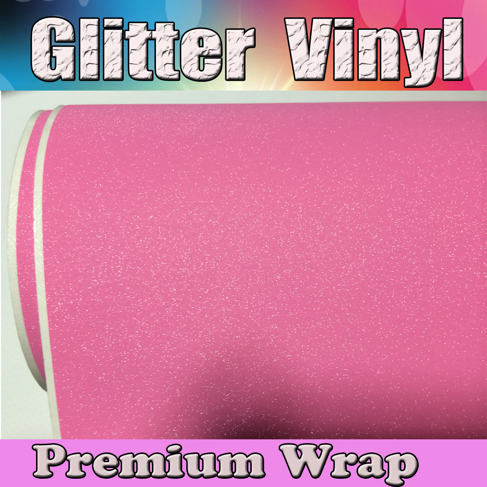 Pink Glitter Sparkle Vinyl Car Wrap Sticker Pearl with Air bubble Free Decal Film CARS LAPTOPS FURNITURE 1.52x30m/Roll 5x98ft