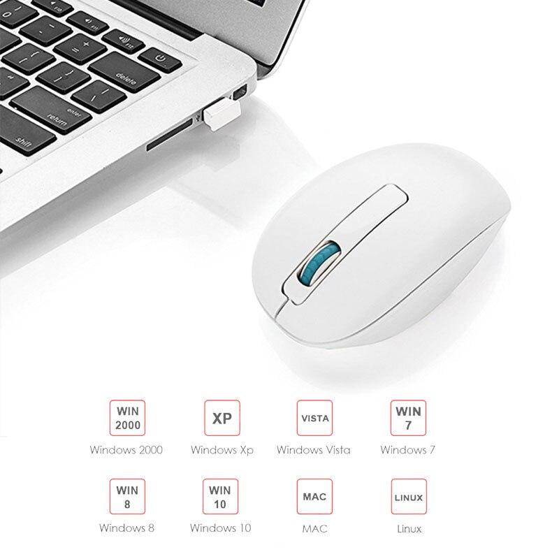 USB անլար լուռ մկնիկ 4 կոճակ 2.4Ghz 1600 DPI - Համակարգչային արտաքին սարքեր - Լուսանկար 5