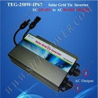 Giám sát thông minh quản lý lưới tie 250 wát biến tần không thấm nước năng lượng mặt trời 120 v
