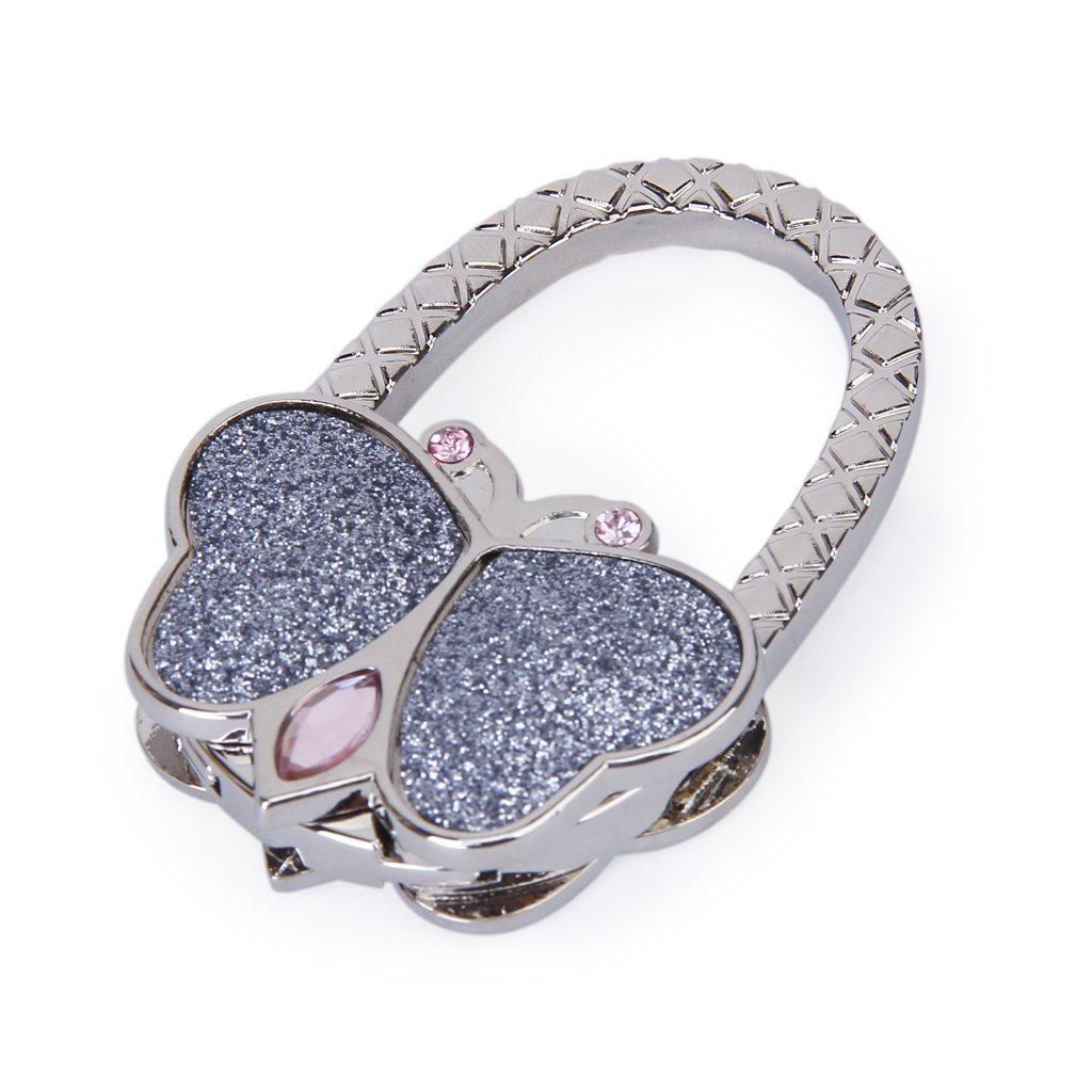Shop For Cheap Butterfly Folding Hanger Holder Hook Handbag Bag Rhinestone (silver) Lustrous