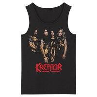 Bloodhoof Kreator Grindcore Heavy Metal Speed Metal Thrash Deathcore Men's Fashion Tank Tops Asian Size