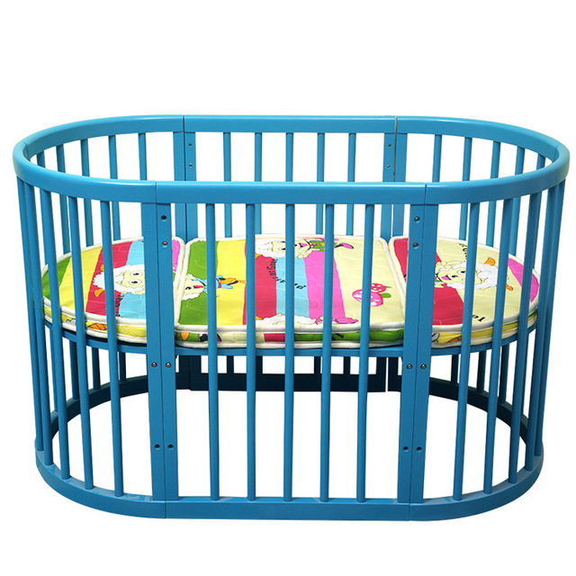 Baby Cribs Bedding Solid Wood Crib Multi Functional Round Baby Bed Cot Can  Be Kids
