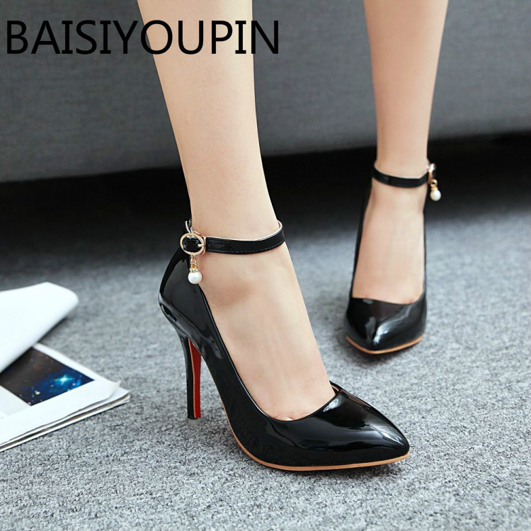 Women Fashion Shoes Female Simple Nude High Heels Shoes -9856