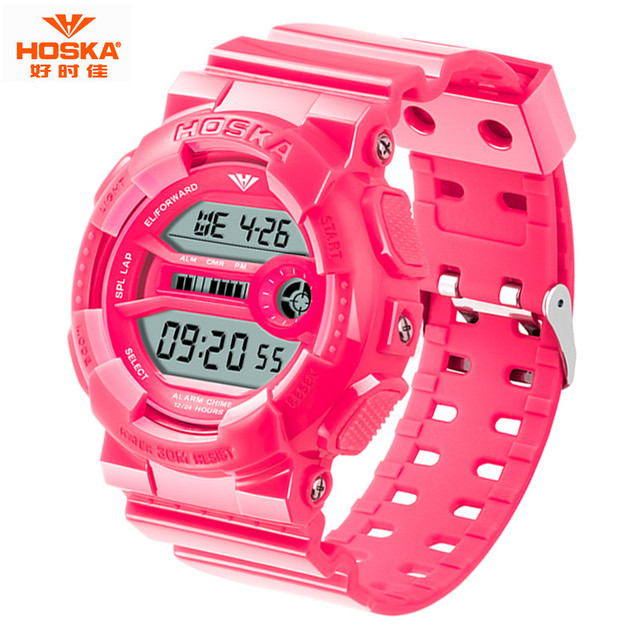 HOSKA Marca Nueva Moda 50 m impermeable Reloj Deportivo de Lujo Hombres Niños reloj Digital Casual Reloj Reloj de múltiples funciones