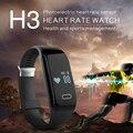 Nueva H3 Inteligente Pulsera Banda y Monitor de Ritmo Cardíaco Pasómetro Actividad Rastreador De Fitness Pulsera para IOS y Android Smartphone