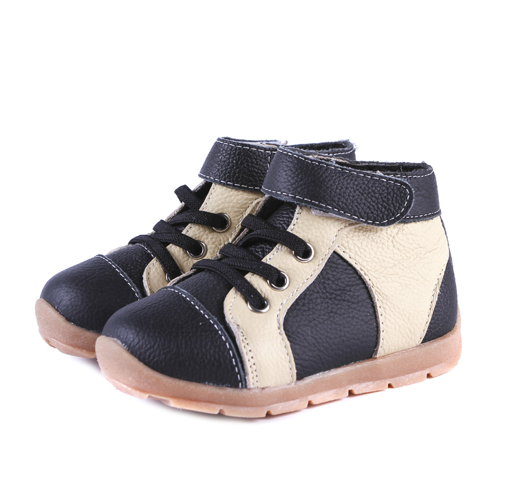 Boys-boots-genuine-leather-velvet-high-top-sneakers-navy-blue-black-and-brown-for-early-spring-and-deep-autumn-early-winter-1