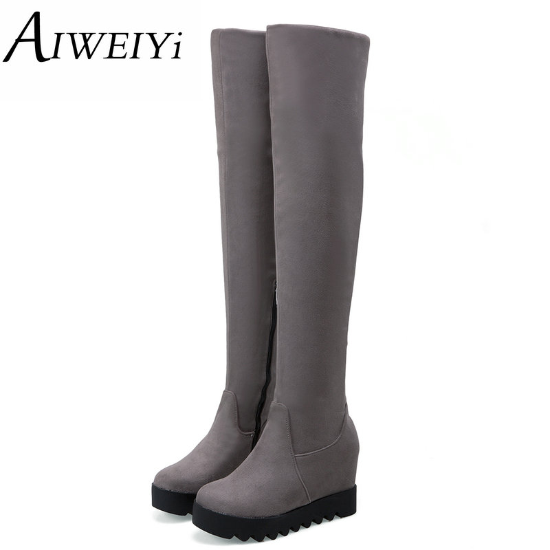 Popular Thigh High Wedge Boots-Buy Cheap Thigh High Wedge Boots ...