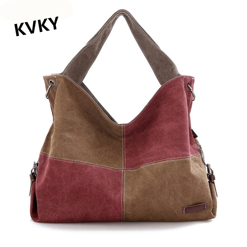 Style Tote Handbag Canvas Shopping Bag Shoulder Bags Large Crossbody Bag CH072