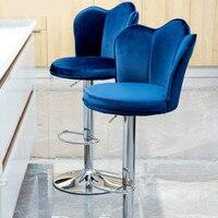 Lift Bar Chair High Stool Modern Minimalist Bar Chair Flannel Fabric Bar Table and Chairs PU Fabric Home Chair High Stool Seat