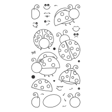 Assembling ladybug Transparent Clear Silicone Stamp/Seal for DIY scrapbooking/photo album Decorative clear stamp