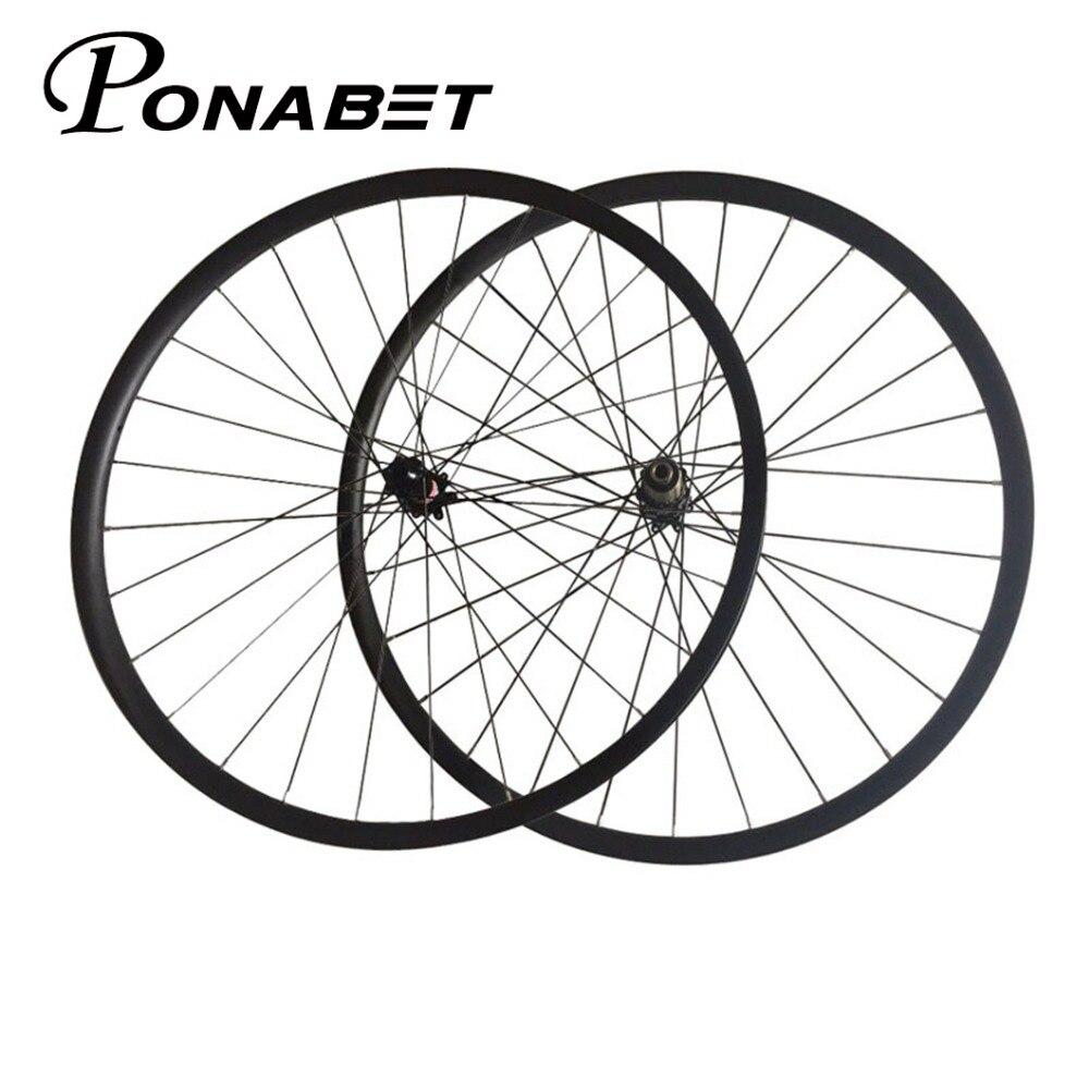 XC 29 MTB Disc Brake Carbon Wheel Novatec 29er Wheels 700C 30mm Width 25mm Clincher Tubeless