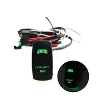 Verde dual-lâmpada de 5 Pinos interruptor padrão de laser luzes de trabalho com a fiação da instalação set LEVOU BARRA de LUZ