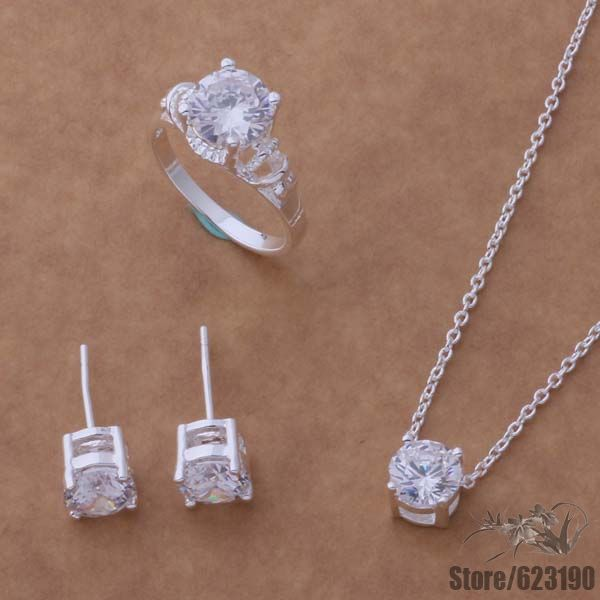 AS045 silver plated, silver jewelry set, fashion jewelry set  /fsaaojha hemapvta