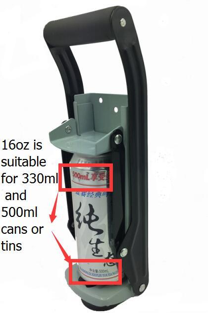 Raskeveokite seinale kinnitatav purkimispurusti sobib ka 16oz ja 12oz purgipurusti jaoks, mida kasutatakse 330ml ja 500ml mahupurupurustaja jaoks