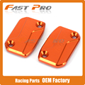 CNC Front Clutch & Brake Fluid Reservoir Cover Cap Fit For KTM SX SXF SMR EXC EXC-F XC XC-W XC-F 125-530 250 350 450 525 200 300