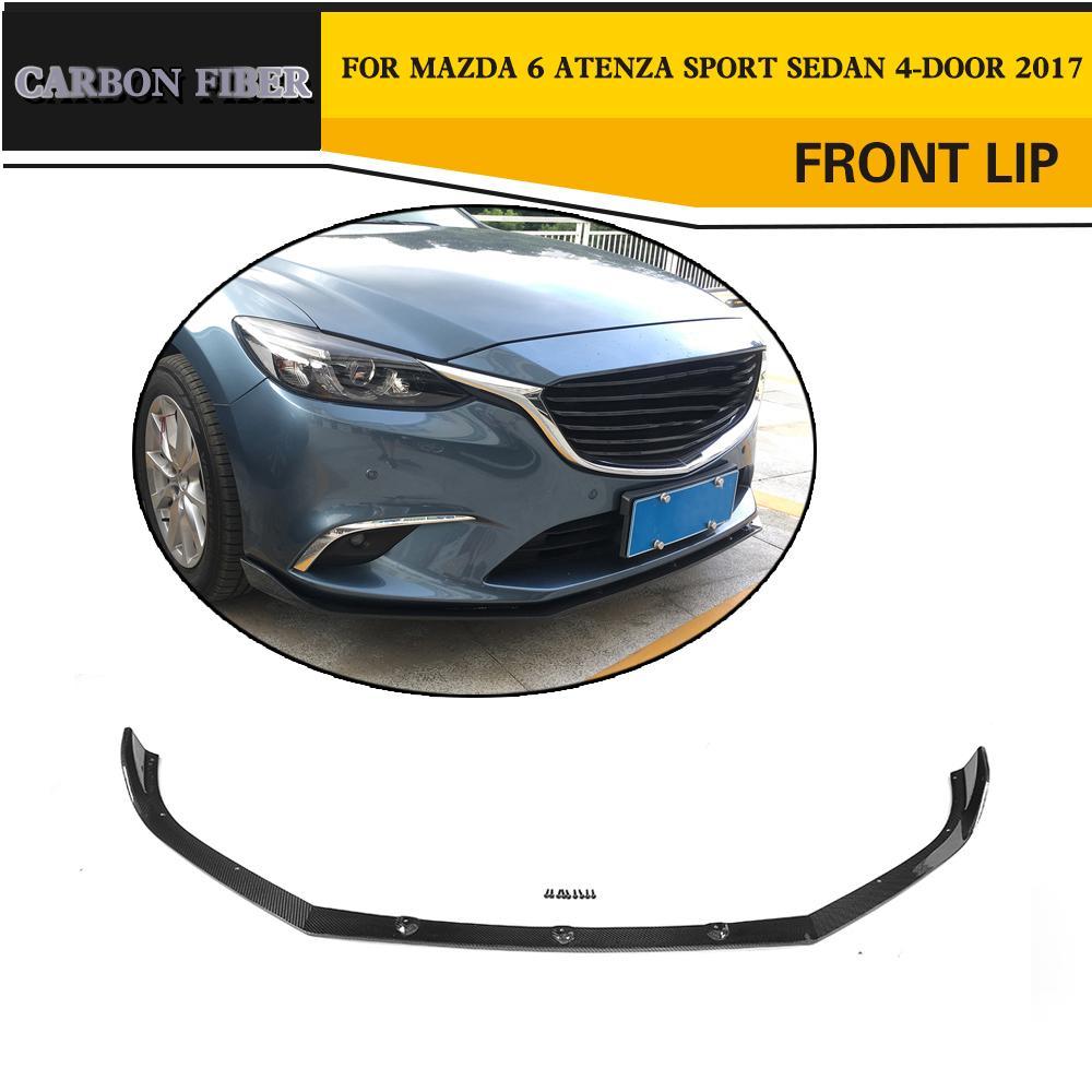 Carbon Fiber Auto Front Bumper Lip Spoiler for Mazda 6 Atenza Sport Sedan 4-Door 2017