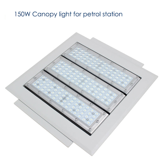 150w led canopy light for petrol station waterproof ip65 led
