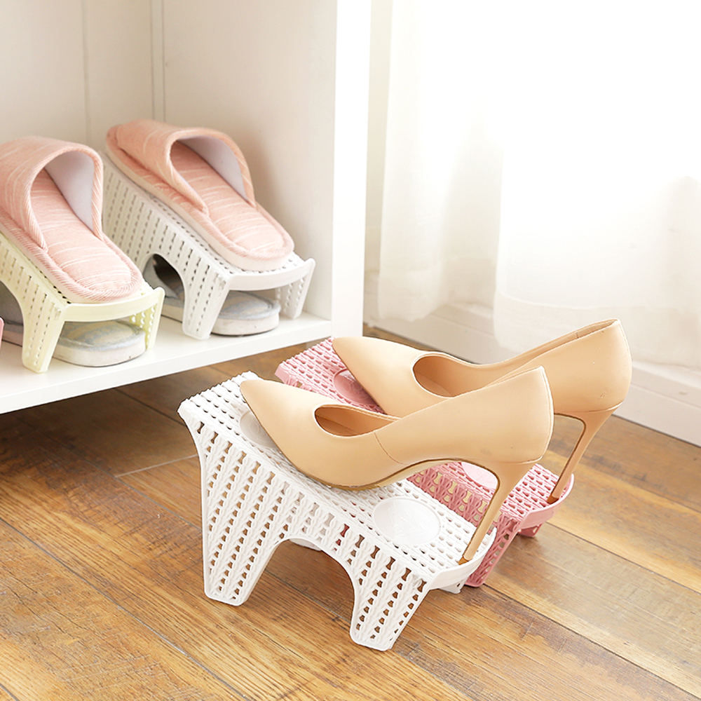 Double Layer Shoes Rack In Plastic 9