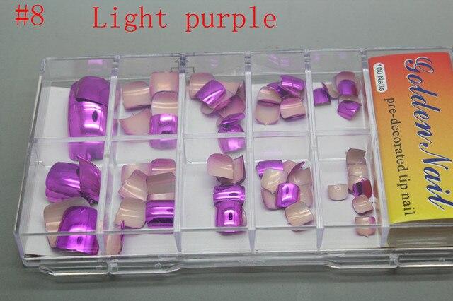 Aliexpress Buy 108pcsset Metallic Toe Nail Tips Acrylic Nail
