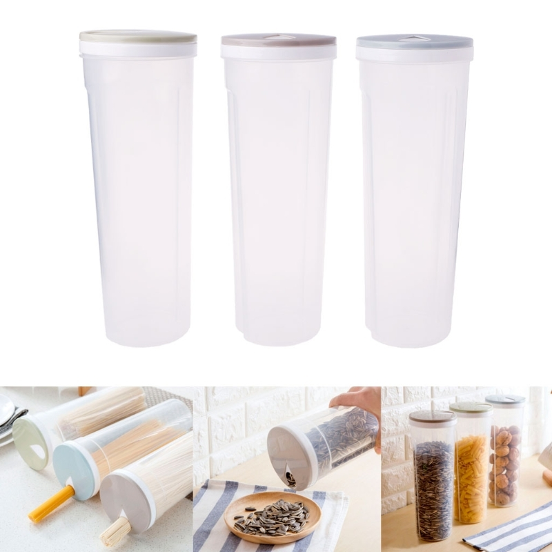 Cutlery Noodle Storage Box Tall Food Storage Box Spaghetti Noodles Container Grain Cereal Jar Airtight Leak