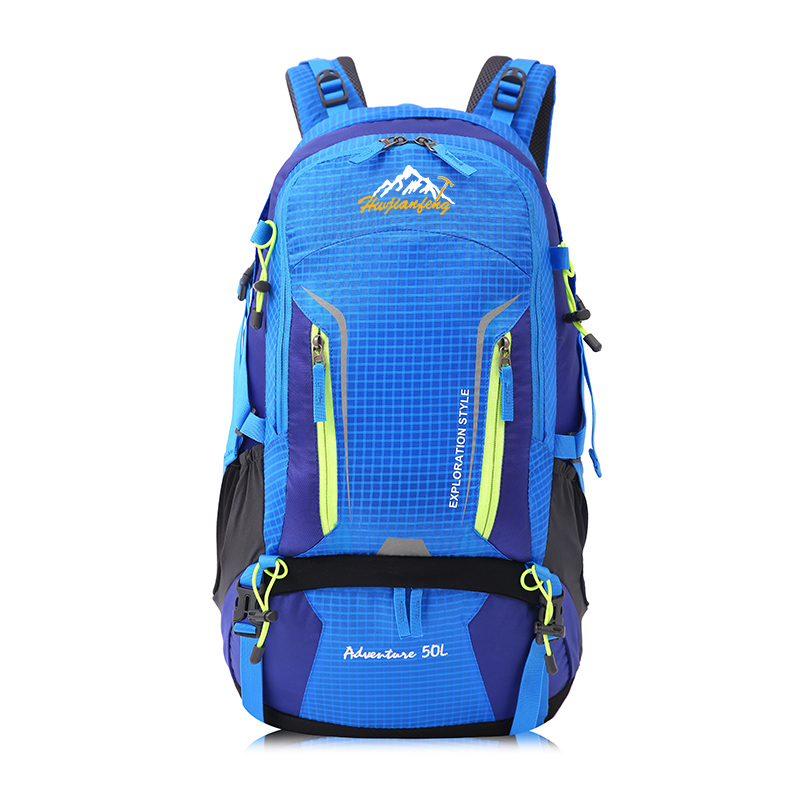 50L Outdoor Sports Bag Camping Hiking Backpack Traveling Trekking Rucksack Mountain Climbing Equipment or Men Women huwaijianfeng 50l outdoor sport traveling climbing backpack multifunctional hiking bag