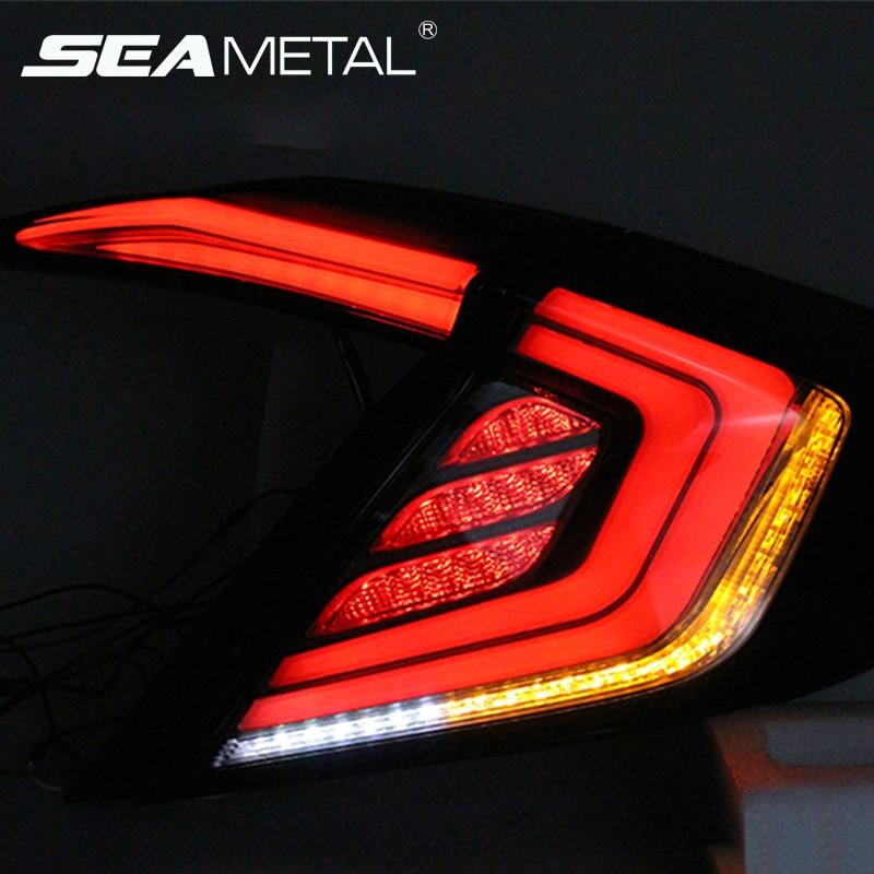 For Honda Civic Taillights 10th Sedan 2017 2018 2016 12V LED Car Tail lights Taillight Rear Lamp Turning+Reversing+Brake light