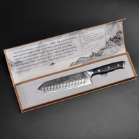 SUNNECKO Premium Damascus Santoku Knife Japanese VG10 Steel Blade Chef's Kitchen Knives G10 Handle Razor Sharp Meat Fruit Cutter