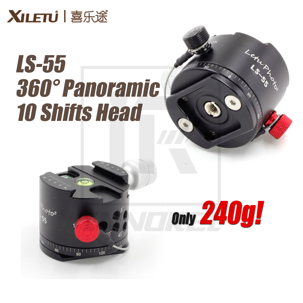 XILETU LS-55 360 Degree Panoramic 10 Shifts Head For Blind shoot Photography Accessories Compatible with Tripod Monopod