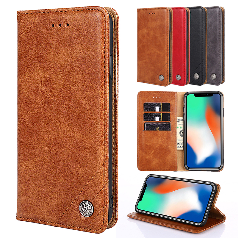 For <font><b>OPPO</b></font> AX7 A7X A73S A83 A79 A73 A59 <font><b>A57</b></font> A39 A37 A5 A3 A3S <font><b>Case</b></font> Leather Frame Flip Wallet For Coque A7 2018 Realme 1 Cover image