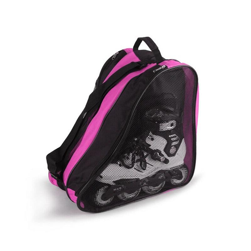Oxford Cloth Ice Skate Roller Blading Carry Bag with Shoulder Strap Kids Adults