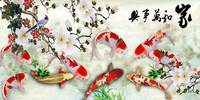 3D Diy Diamond Painting Cross Stitch Nine Fish Pattern Diamond Embroidery Flower Series Drill Handmade Works