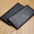 LANSPACE genuine leather purse ultra thin wallet card holder famous brand designer men wallets