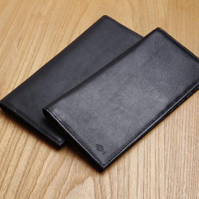 Lanspace titular de la tarjeta monedero del cuero genuino ultra thin monedero famoso diseñador de la marca de los hombres carteras