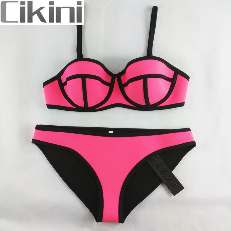 Neoprene Swimwear Woman  Bikinis Women New Summer 2018 Sexy Swimsuit Bath Suit Push Up Bikini set Bathsuit TA01 Wholesale neoprene swimwear women bikini woman new summer 2017 sexy swimsuit bath suit push up bikini set bathsuit ta008y
