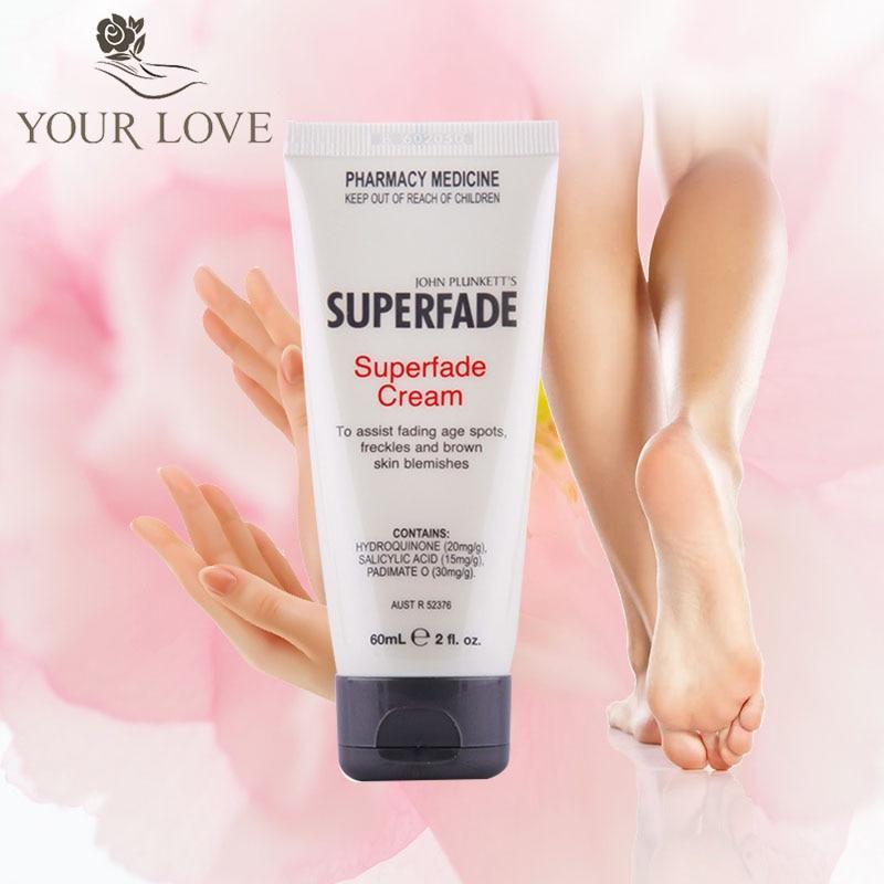 Original de Australia Superfade potente crema corporal para el cuerpo de 60 ml para marcas de hormona oscura Edad removedor de manchas de pigmento cremas-in Crema solar facial from Belleza y salud    1