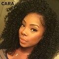 7A Glueless Cheia Do Laço Perucas de Cabelo Humano Para As Mulheres Negras Rendas frente Perucas Cabelo Brasileiro Crespo Encaracolado Peruca de Cabelo Virgem Com O Bebê cabelo