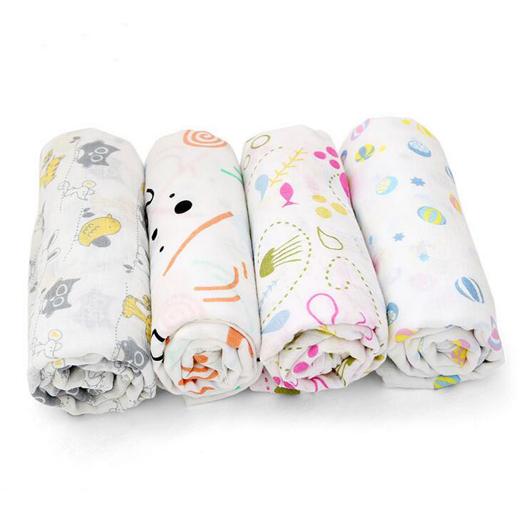 new 120x120cm Bamboo Fiber  Baby Wrap Swaddling baby Blanket Newborn Infant Swaddle Towel Famous Multifunctional