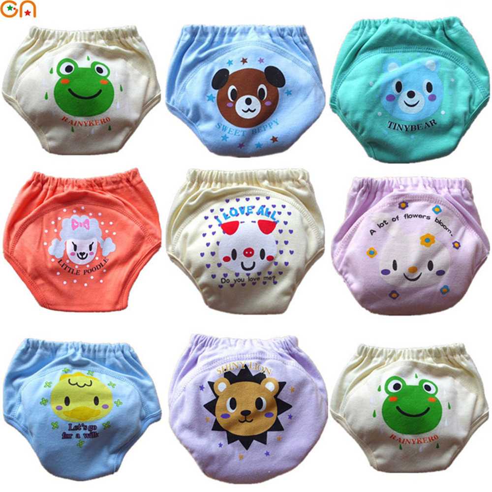 Baby Cotton   shorts   Infants,Newborn Cute Cartoon Underpants toddler Training pants diaper cover for 0-2T Kids birthday gift CN