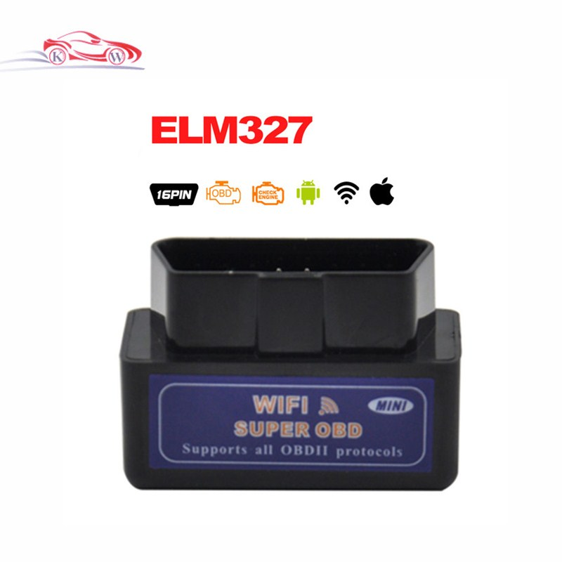 Car Repair Tools Code Readers & Scan Tools Original Best Quality Black Elm327 Wifi Diagnostic Tool Mini Elm 327 Wifi Obd2 Scanner V1.5 Support Android & Ios System Commodities Are Available Without Restriction
