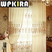 New Arrival Europe Style Curtain For Living Room Bedroom Luxury Embroidered Flower Cortina Para Sala DS068