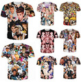 New T shirt Justin bieber/Miley cyrus/monroe/tyler the creator/Lana del rey/resident evil zombie 3D print T-shirt Drop Shipping