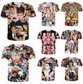 Nova camiseta Justin bieber / Miley cyrus / monroe / tyler the creator / Lana del rey / resident evil zumbi t-shirt de impressão 3D transporte da gota