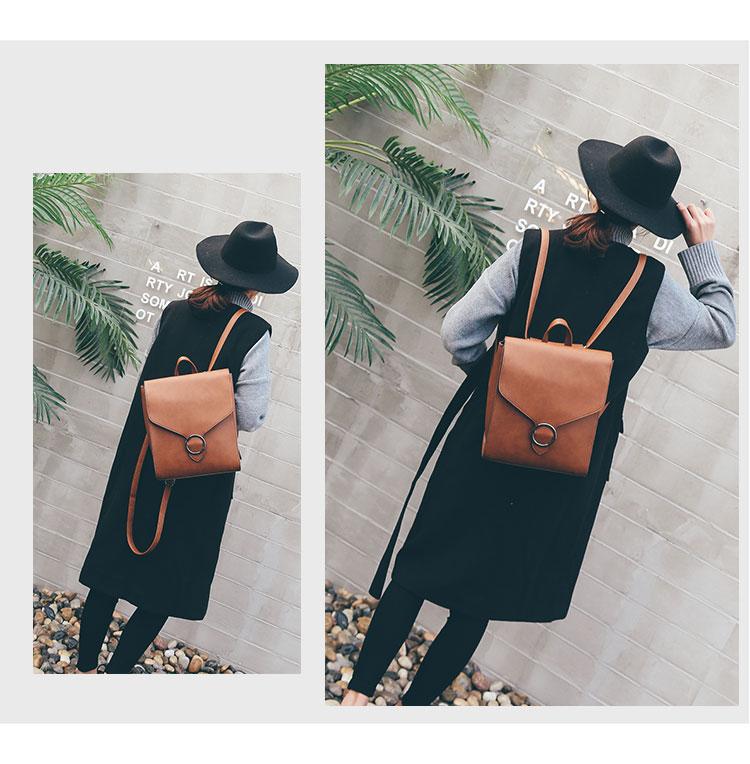 Retro Women's Rucksack Bag 16