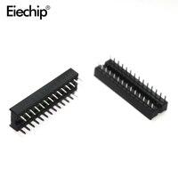 Free Shipping 10pcs 24pin Pins DIP IC Sockets Adaptor Solder Type Socket Narrow
