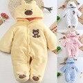 2016 Outono/inverno de algodão roupa do bebê recém-nascidos collant Além de veludo ins escalada roupas Romper do bebê do bebê Da Menina do menino roupas