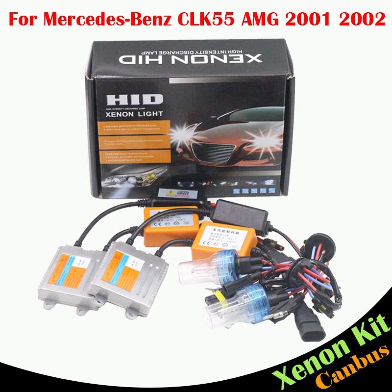ФОТО Cawanerl 55W Car Headlight Low Beam No Error HID Xenon Kit Ballast Bulb AC 3000K-8000K For Mercedes Benz CLK55 AMG 2001 2002