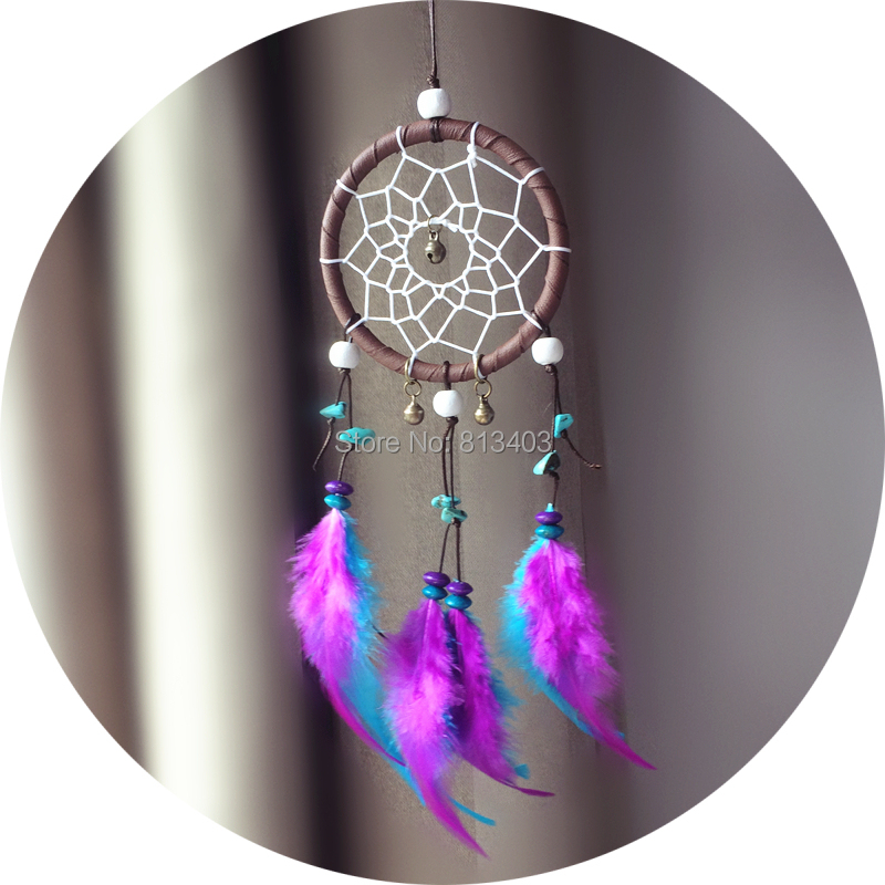 7cm Diameter Small Dream Catcher Car Home Hanging With Feathers New - Home Decor