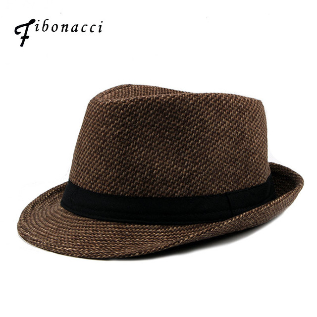 09b74c241a0 Fibonacci Wool Mixed Fedoras British Style Classic Autumn Winter Hats  Trilby Jewish Hat for Men Small